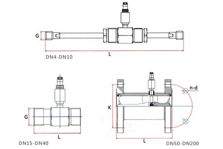 丙酮计量表传感器可水平、垂直安装,垂直安装时流体方向必须向上。液体应充满管道,不得有气泡。安装时,液体流动方向应与液体涡轮流量计传感器外壳上指示流向的箭头方向一致。传感器上游端至少应有20倍公称通径长度的直管段,下游端应不少于5倍公称通径的直管段,其内壁应光滑清洁,无凹痕、积垢和起皮等缺陷。液体涡轮流量计传感器的管道轴心应与相邻管道轴心对准,连接密封用的垫圈不得深入管道内腔。 传感器应远离外界电场、磁场,必要时应采取有效的屏蔽措施,以避免外来干扰。 为了检修时不致影响液体的正常输送,建议在传感器的安装处,