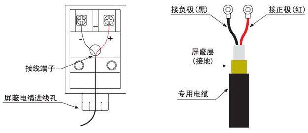 固定式超声波流量计传感器接线图