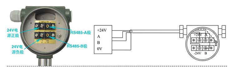 丁烷流量计RS-485接线图