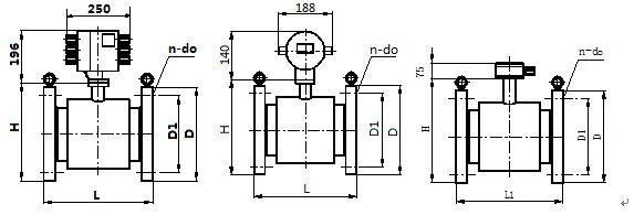 电磁流量计外形尺寸图